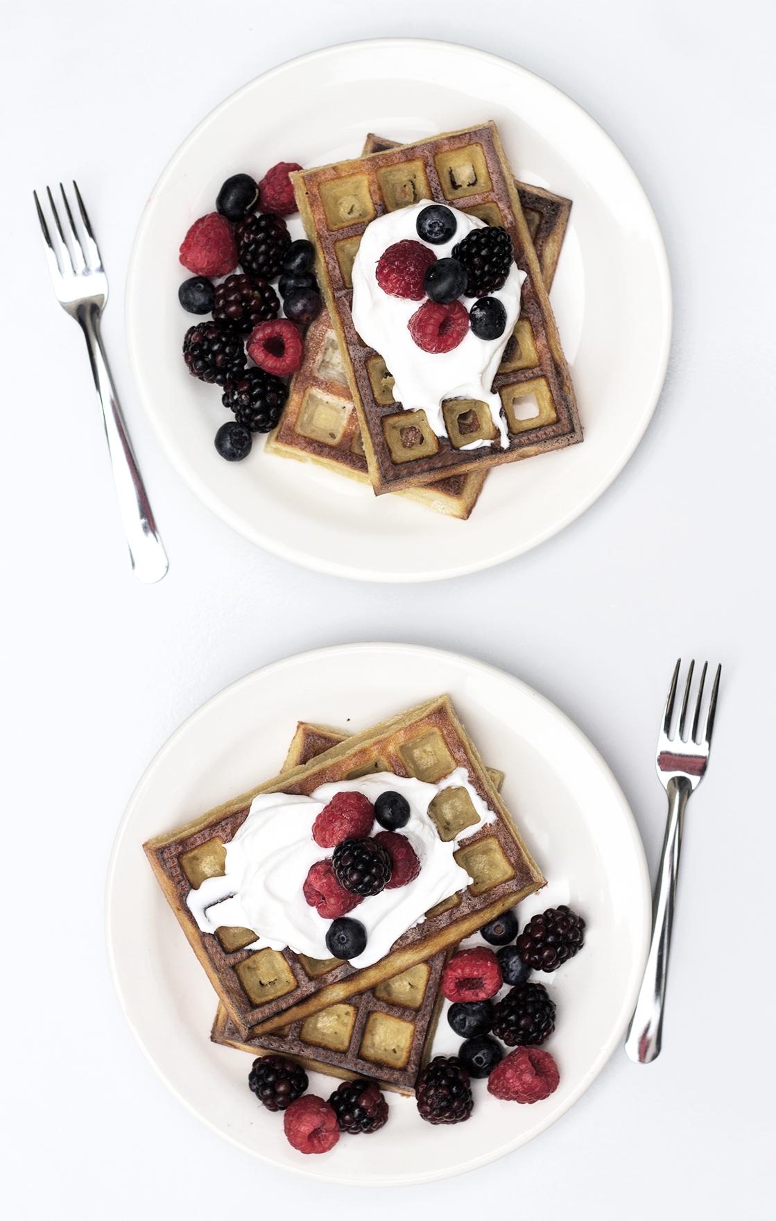 o tradicional waffle assado sem máquina