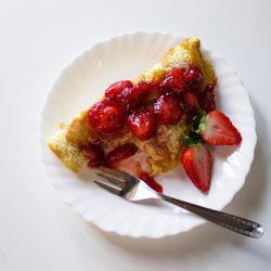 omelete de morango