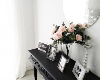 decoração rose menta e lilás
